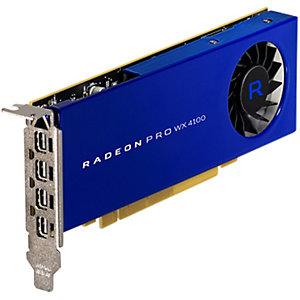 AMD RADEON PRO WX 4100, 4 GB, GDDR5, 128 bit, 5120 x 2880 Pixeles, PCI Express x16 3.0, 1 Ventilador(es) 100-506008