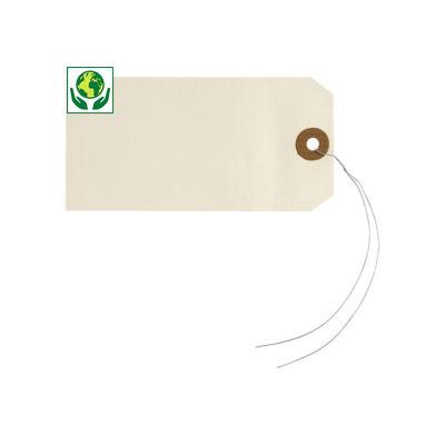 Étiquette américaine beige avec attache##Amerikaans hanglabel beige met metaaldraad