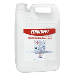 AMUCHINA Disinfettante Detergente per superfici Fenolsept, Presidio Medico Chirurgico, Profumo Marsiglia, Tanica 5 l