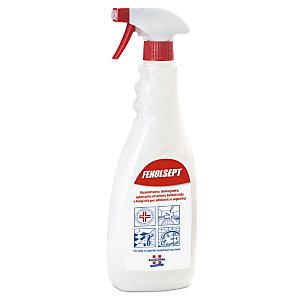 AMUCHINA Sgrassatore Disinfettante Fenolsept, Presidio Medico Chirurgico, Profumo Marsiglia, Flacone spray 750 ml