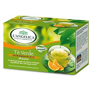 L`ANGELICA Tè Verde antiossidante PLUS all'Arancia (confezione 20 filtri)