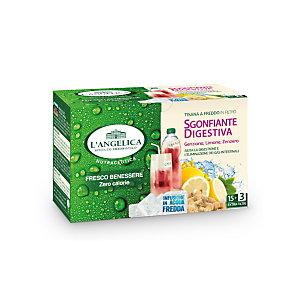 L`ANGELICA Tisana a freddo Sgonfiante Digestiva (confezione 18 filtri)