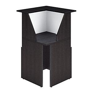Angle de 90° pour banque d'accueil OLA - L. 76 - Frêne noir/blanc
