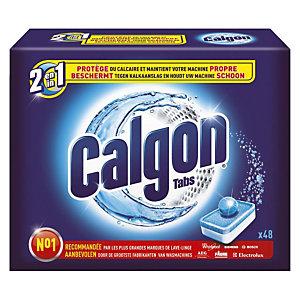 Anticalcaire lave-linge Calgon 2 en 1, 48 tablettes