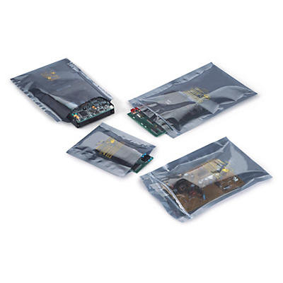 Antistatic, metallised shielding bags