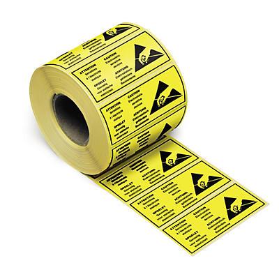 Étiquette pour marquage antistatique##Antistatisches Etikett