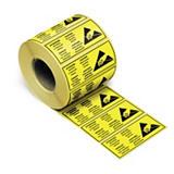 Antistatisches Etikett