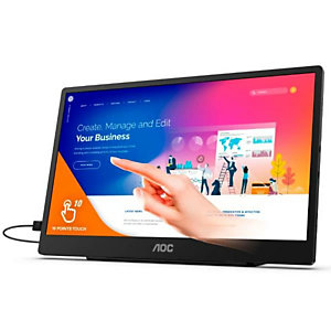 AOC, Monitor desktop, 15 6 monitor touch ips fhd, 16T2