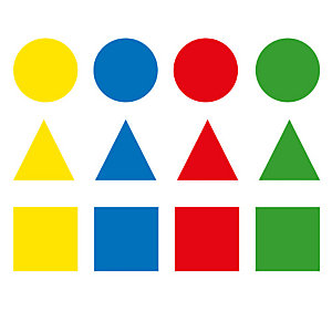Apli (11108) Gomets removibles de figuras geométricas surtidos