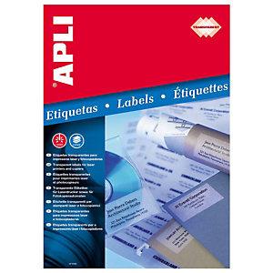 Apli (1223) Etiquetas invisibles 48,5 x 25,4 mm.