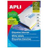 Apli (1299) Etiquetas multiuso cantos rectos 105 x 29 mm. 20 etiquetas/hoja (paquete 2000 unidades)