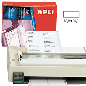 Apli (15) Etiquetas 88,9 x 36 mm.