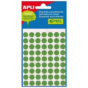 Apli (2054) Gomets Ø 10 mm. verde