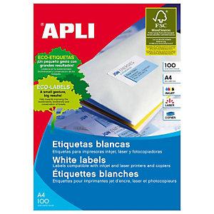 Apli (2414) Etiquetas multiuso cantos romos 63,5 x 38,1 mm. 21 etiqueta/hoja