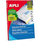Apli (2420) Etiquetas multiuso cantos romos 99,1 x 67,7 mm. 8 etiquetas/hoja