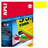 Apli (2874) Etiquetas fluorescentes 99,1 x 67,7 mm. amarillo