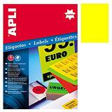 Apli (2878) Etiquetas fluorescentes 210 x 297 mm. amarillo