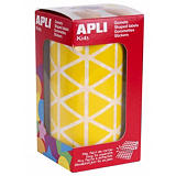 Apli (4867) Gomets triángulo, 20 x 20 x 20 mm, amarillo, rollo