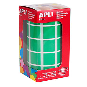 Apli (4878) Gomets cuadrados, 20 x 20 mm, verde