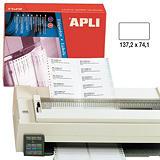 Apli (73) Etiquetas 137,2 x 74,1 mm.
