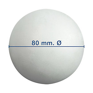 Apli Bola de porexpan 80 mm