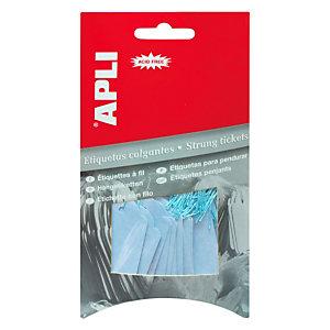 Apli Etiquetas colgantes para productos, 22 x 35 mm, escritura manual, azul pastel