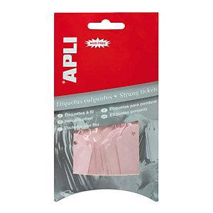 Apli Etiquetas colgantes para productos, 22 x 35 mm, escritura manual, rosa pastel