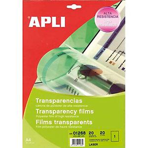 APLI Film transparents pour imprimante Laser Noir et Blanc B/100