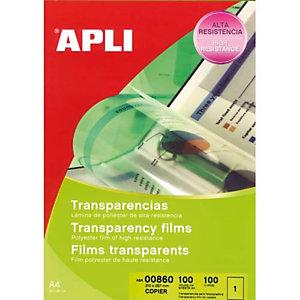 APLI Film transparents pour photocopieur antistatique B/100