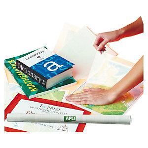 Apli Forro de libros autoadhesivo en rollo, 80 micras, 0,5 x 3 m