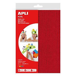 Apli Goma EVA textura toalla A4 - rojo, amarillo, verde, azul