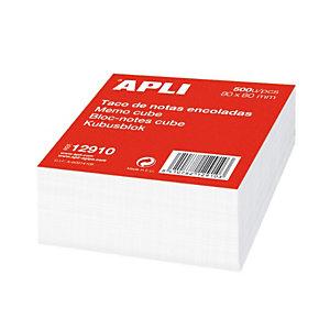 Apli Taco de notas encoladas al lomo 80 x 80 mm blanco, 500 hojas