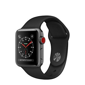 Apple, Smartwatch, S3 38 gpscell sg black, MTGP2QL/A