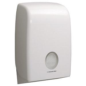 Aquarius (Kimberly-Clark) Aquarius™, Dispensador de toallitas plegadas para manos, blanco, 265 x 136 x 399 mm
