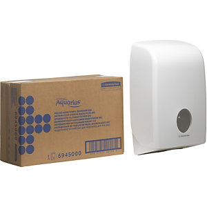 Aquarius (Kimberly-Clark) Distributeur d'essuie-mains pliés Aquarius™, 265 x 136 x 399 mm, blanc
