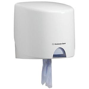 Aquarius (Kimberly-Clark) Distributeur de lingettes nettoyantes à dévidage central plastique blanc