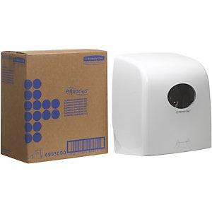 Aquarius (Kimberly-Clark) Distributeur manuel d'essuie-mains en rouleau Slimroll* blanc ultra-brillant