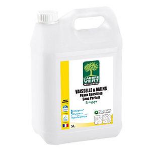 L'ARBRE VERT Liquide vaisselle peaux sensibles écologique L'Arbre Vert 5 L