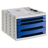ARCHIVO 2000 Archivotec Serie 6000 módulo 4 cajones azul