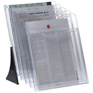 ARCHIVO 2000 Expositor de sobremesa Archiplay, 5 compartimentos, A4 vertical, 265 x 240 x 330 mm