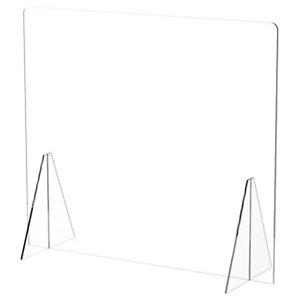 ARCHIVO 2000 Mampara de protección de sobremesa sin ventana, metacrilato de 4 mm, 85 (an) x 75 (alt) cm