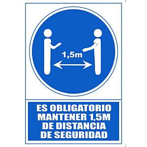 """ARCHIVO 2000 Señal """"Obligatorio mantener la distancia de seguridad 1,5 m"""""""