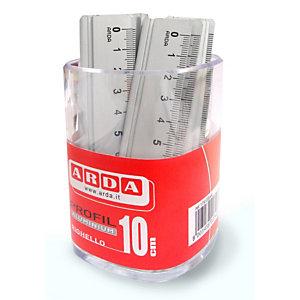 ARDA Barattolo 15 righelli - 10cm - alluminio - Arda