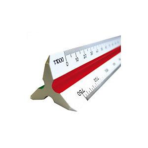 ARDA Escalímetro de plástico para construcción de 30 cm