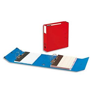 ARIANEX Classeur à deux leviers Millex en PVC intérieur et extérieur Rouge,dos de 9.5cm