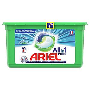 Ariel Pods Alpine - Lessive liquide 3 en 1 - Boîte de 31 écodoses