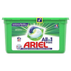 Ariel Pods Original - Lessive liquide 3 en 1 - Boîte de 31 écodoses