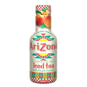 AriZona AriZona Tè verde, Pesca, Bottiglia 500 ml (confezione 6 pezzi)