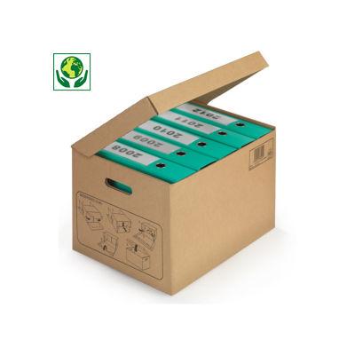 Arkiveske med lokk for ringpermer og brevordnere