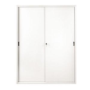 Armadi metallici alti con ante scorrevoli - Colore bianco - Dimensioni cm 180 x 45 x 200